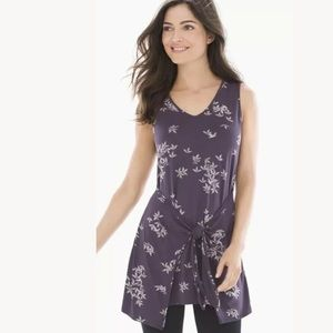Soma Soft Jersey Knot Front Tunic Top Large new